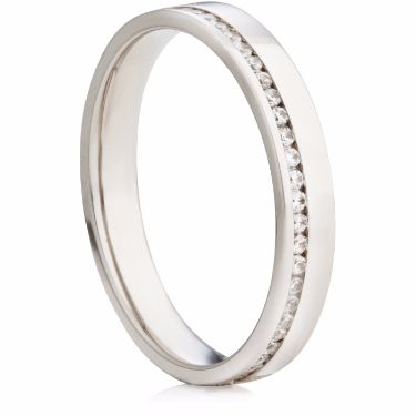 Brilliant Cut Off Centred Full Eternity Ring