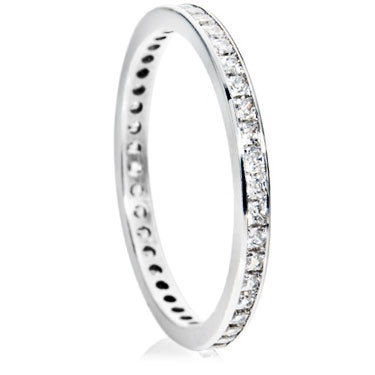 2mm Princess Cut Channel Full Eternity Ring