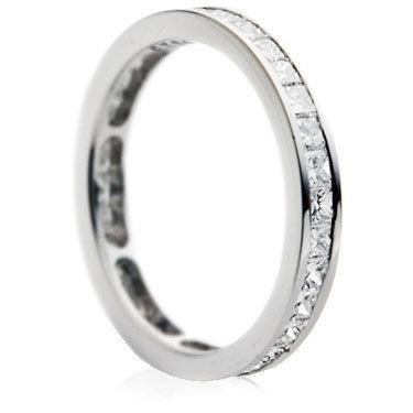 3mm Princess Cut Channel Full Eternity Ring