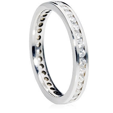 2.5mm Brilliant Cut Channel Full Eternity Ring