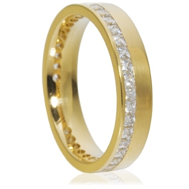 4mm Princess Cut Channel Full Eternity Ring