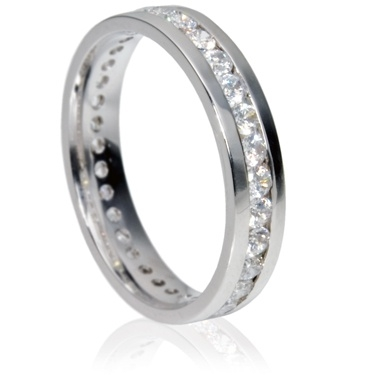 Eternity Ring With 0.03ct Brilliant Cut Diamonds