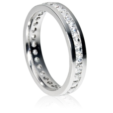 4mm Eternity Ring - Princess Cut