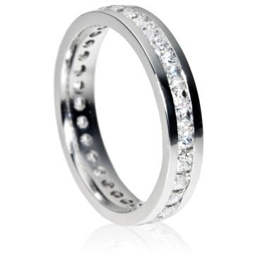 4mm Eternity Ring - Princess Cut