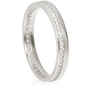 3mm Eternity Ring - Brilliant Cut