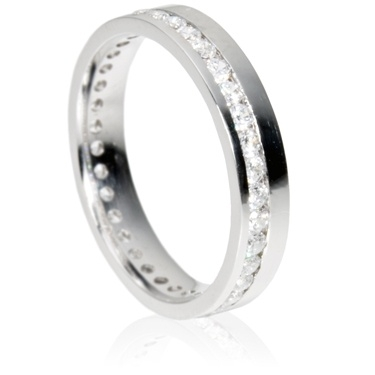 4mm Full Eternity Ring - Brilliant Cut