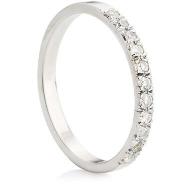 Half Eternity Ring with Brilliant Cut Diamonds