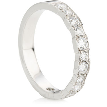 Half Eternity Ring with Brilliant Cut Diamonds