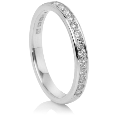Grain Set Brilliant Cut Half Eternity Ring
