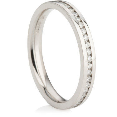 Brilliant Cut Half Eternity Ring