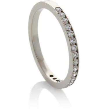Brilliant Cut Diamond Half Eternity Ring
