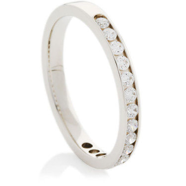 Brilliant Cut Diamond Half Eternity Ring
