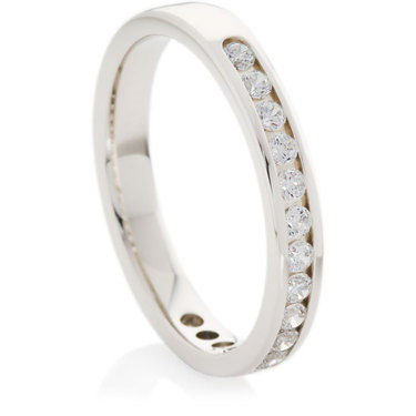 Half Eternity Ring set with Brilliant Cut Diamonds