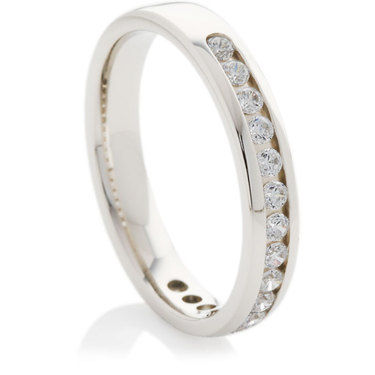 Half Eternity Ring set with Brilliant Cut Diamonds