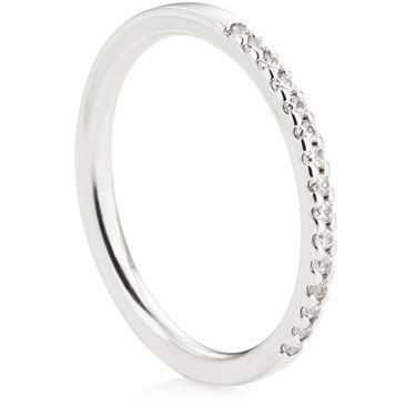 Claw Set Half Eternity Ring - 0.15ct