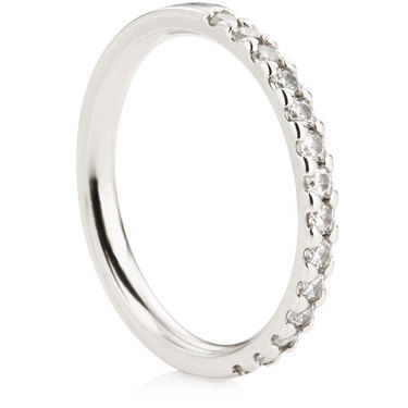 Claw Set Half Eternity Ring - 0.33ct