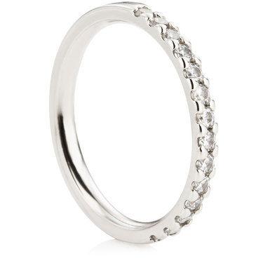 Claw Set Half Eternity Ring - 0.33ct
