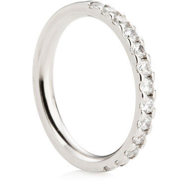 Claw Set Half Eternity Ring - 0.50ct