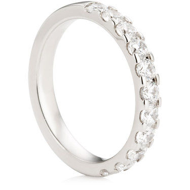 Claw Set Half Eternity Ring - 0.75ct