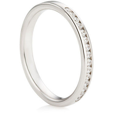 Channel Set Half Eternity Ring - 0.25ct