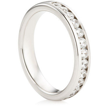 Channel Set Half Eternity Ring - 0.50ct