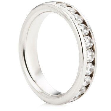 Channel Set Half Eternity Ring - 0.75ct