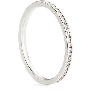 Brilliant Cut Half Eternity Ring - 0.15ct