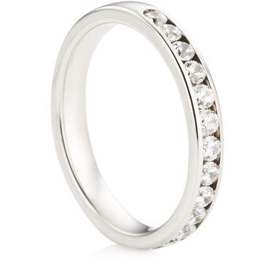 Brilliant Cut Half Eternity Ring - 0.50ct