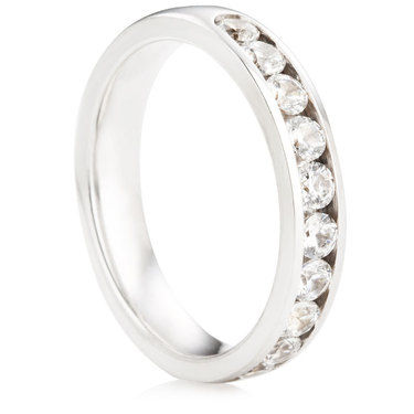 Brilliant Cut Half Eternity Ring - 0.75ct
