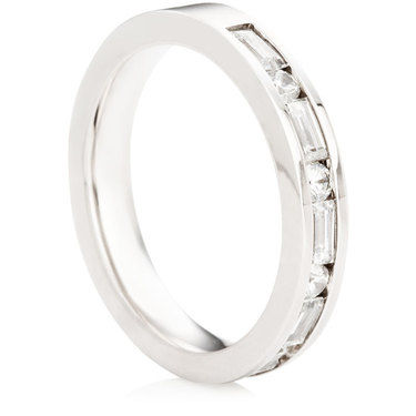 Baguette & Brilliant Cut Half Eternity Ring