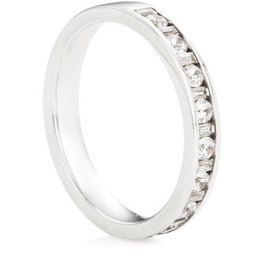 Brilliant & Baguette Cut Half Eternity Ring