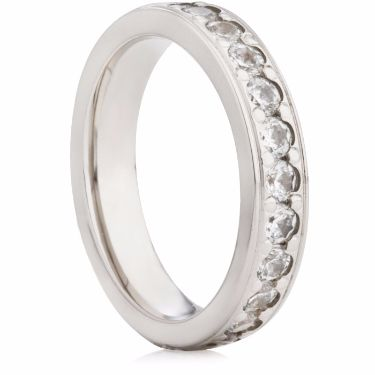 4mm Brilliant Cut Grain Set Half Eternity Ring