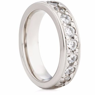 5mm Brilliant Cut Grain Set Half Eternity Ring