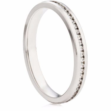 2.5mm Channel Set Half Eternity Ring