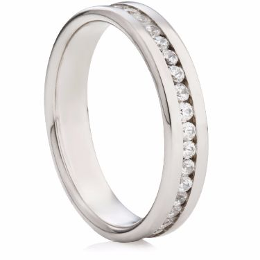 4mm Channel Set Half Eternity Ring
