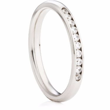 Ten Stone Brilliant Cut Diamond Eternity Ring