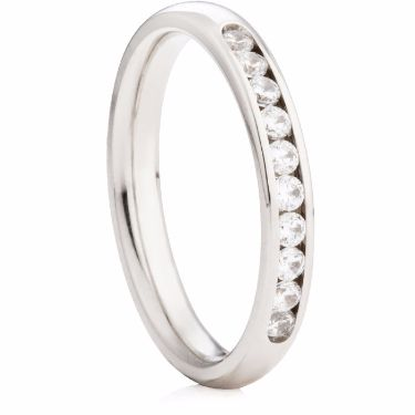 2.5mm Wide Diamond Channel Set Half Eternity Ring