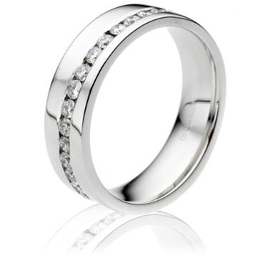 Brilliant Cut Half Eternity Ring