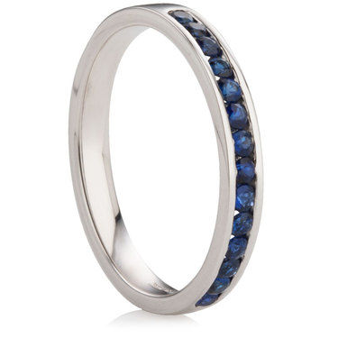 Brilliant Cut Sapphire Channel Set Half Eternity Ring