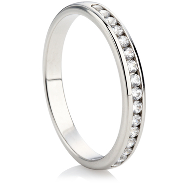 2.5mm Brilliant Cut Half Eternity Ring