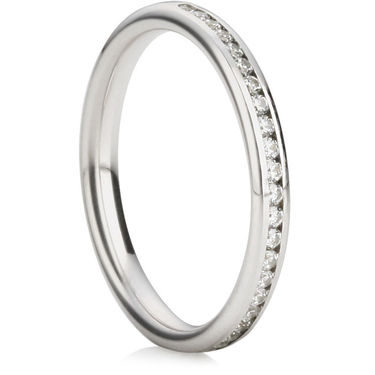 Brilliant Cut Half Eternity Ring (2.5mm)