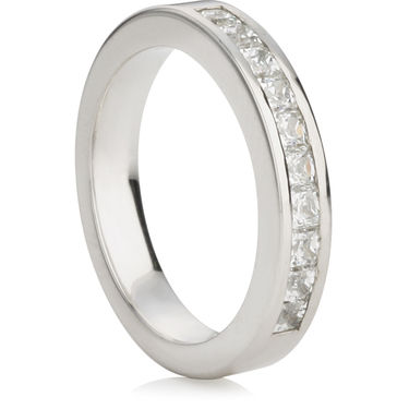 Princess Cut Half Eternity Ring (0.75ct)