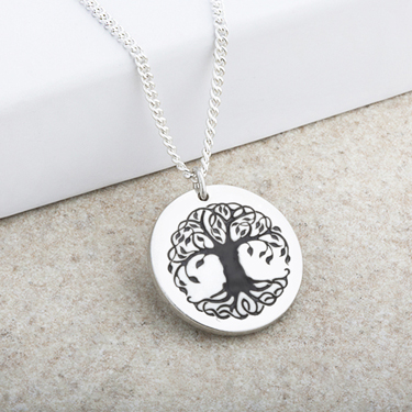 Tree of Life Laser Engraved Pendant