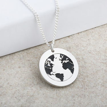You Are My World Laser Engraved Pendant