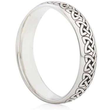 Celtic Knot Laser Engraved Ring