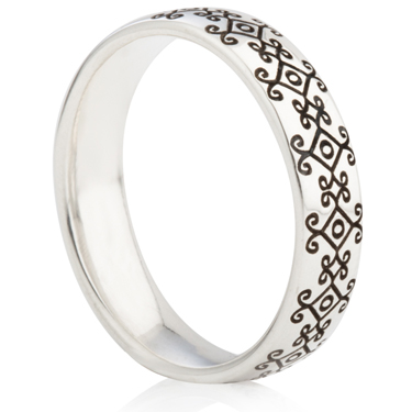Bohemian Design Laser Engraved Ring