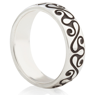 Anglo Saxon Design Laser Engraved Ring