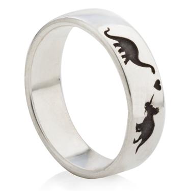 Dinosaur Designed Laser Engraved Ring