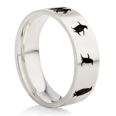 Penguin Designed Laser Engraved Ring