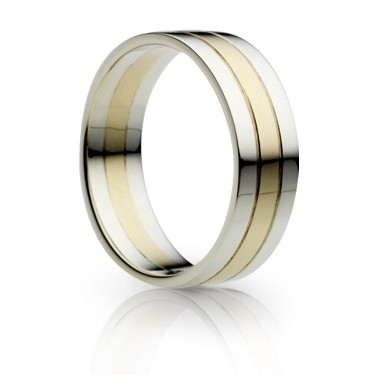 18ct Gold Two Tone Wedding Ring
